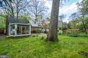 Backyard also has grassy areas - 5824 BRADLEY BLVD, BETHESDA