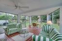 Sunroom: 3 walls of windows, 3 season usage - 5824 BRADLEY BLVD, BETHESDA