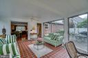 Sunroom: gorgeous Spanish tile floors - 5824 BRADLEY BLVD, BETHESDA