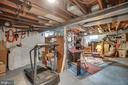 Lower level: space for workout equipment, workshop - 5824 BRADLEY BLVD, BETHESDA