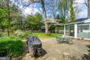 Backyard: large brick patio for grilling, dining - 5824 BRADLEY BLVD, BETHESDA
