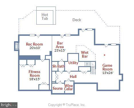 Lower Level Floor plan - 236 MOUNTAIN LAUREL LN, ANNAPOLIS