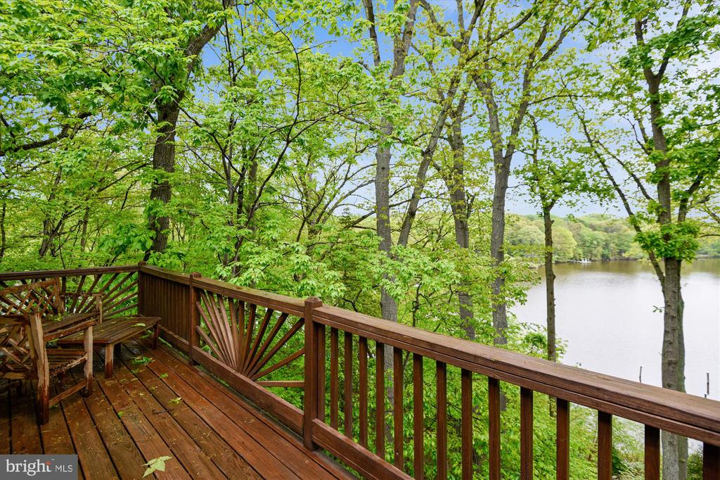 View from master bedroom balcony - 236 MOUNTAIN LAUREL LN, ANNAPOLIS