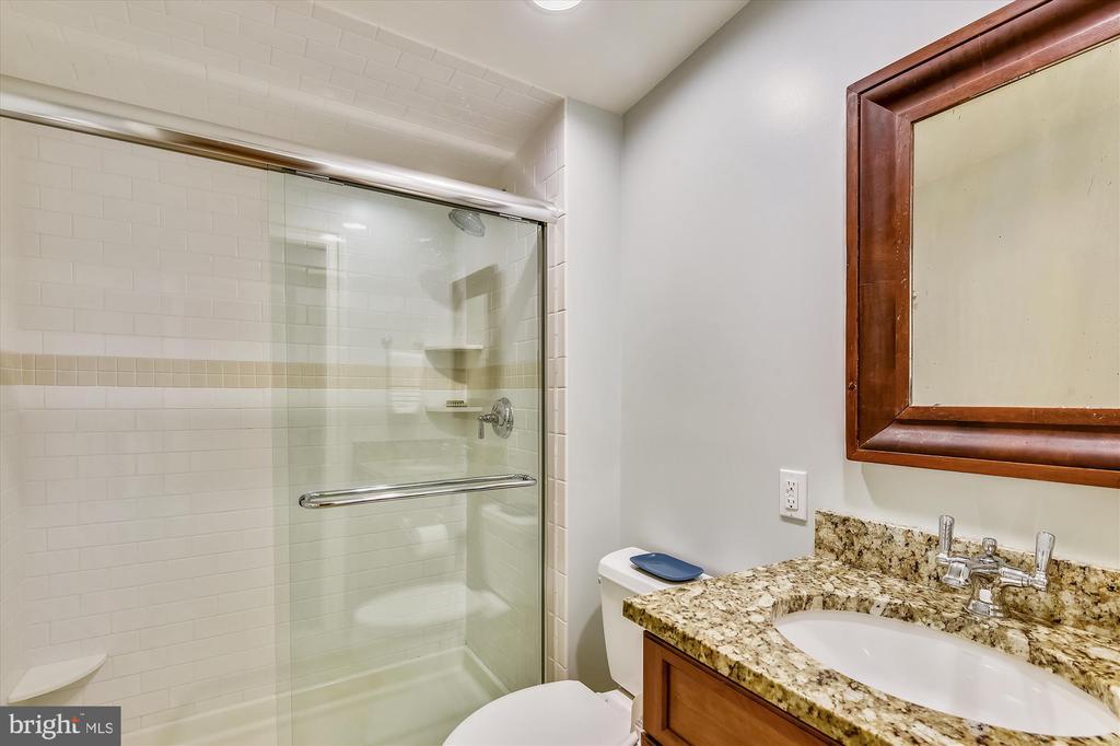 Au Pair ste. full bath w/ pocket door, granite - 236 MOUNTAIN LAUREL LN, ANNAPOLIS
