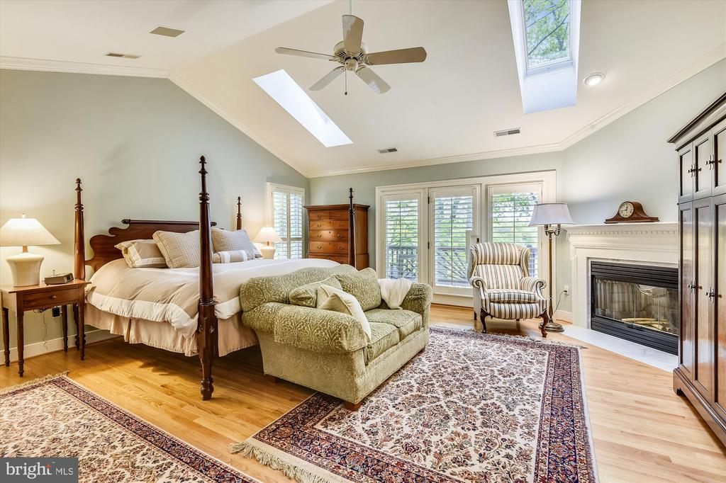 Master bedroom w/ cath ceiling, wood fireplace, - 236 MOUNTAIN LAUREL LN, ANNAPOLIS