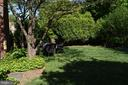 Back yard with gate to front yard - 7600 GLENDALE RD, CHEVY CHASE