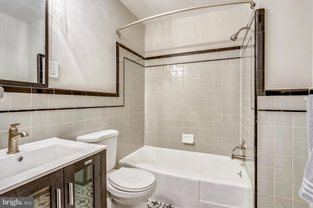Renovated Second full Bathroom - 1128 CRESTHAVEN DR, SILVER SPRING