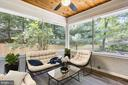 Screened Porch with Ceiling Fan - 1128 CRESTHAVEN DR, SILVER SPRING