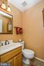 Hall full bath w/ contemporary lighting & fixture - 6510 WESTMORE CT, SPRINGFIELD