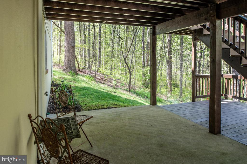 Covered patio. - 325 SANDY RIDGE RD, FREDERICKSBURG