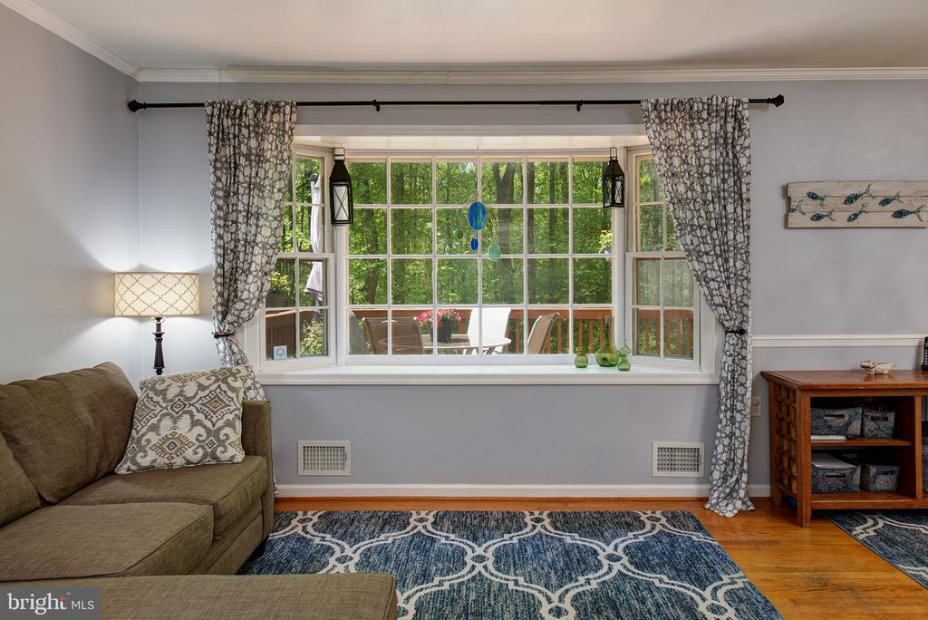 Gorgeous views from bay window in family room - 39225 FOXHILL RD, LEESBURG