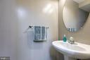 Basement half bath. - 214 WOODSTREAM BLVD, STAFFORD