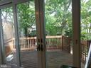 Kitchen view to back deck - 2557 36TH ST NW, WASHINGTON