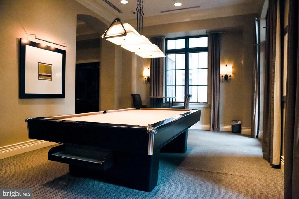 Public Billiard Room at Ground Floor - 11710 OLD GEORGETOWN ROAD #1521, NORTH BETHESDA