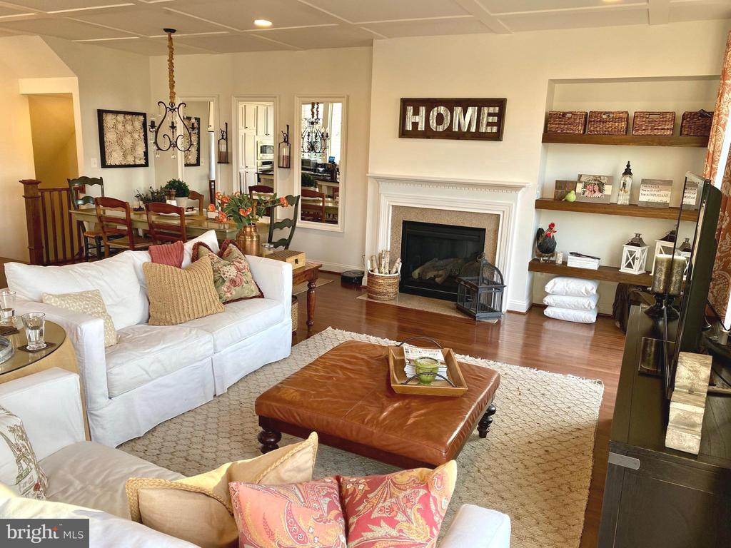 Beautiful Family Room with Marble Fireplace - 22912 BOLLINGER TER, BRAMBLETON