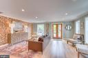 18 Feet wide living room  with abundant light - 517 13TH ST NE, WASHINGTON