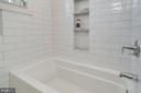 Shower/Tub upstairs Hall Bath with porcelain tiles - 517 13TH ST NE, WASHINGTON