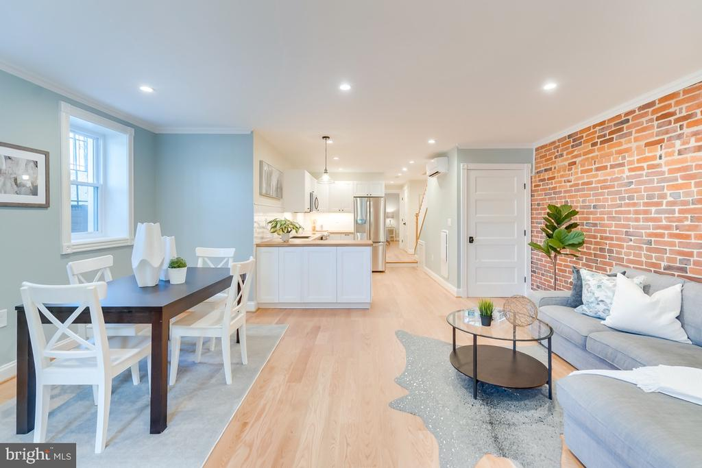 Wide Basement with recessed lighting throughout - 517 13TH ST NE, WASHINGTON