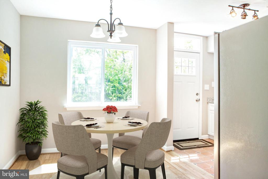 Virtual Staging of Dining Room - 323 36TH ST NE, WASHINGTON