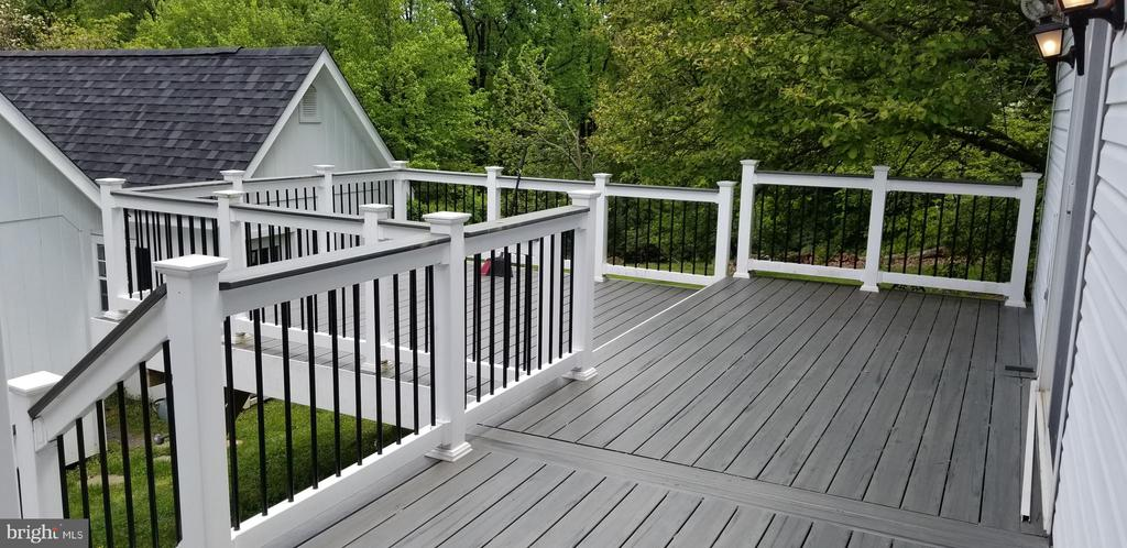 Private Deck overlooks the backyard - 5439 SHOOKSTOWN RD, FREDERICK