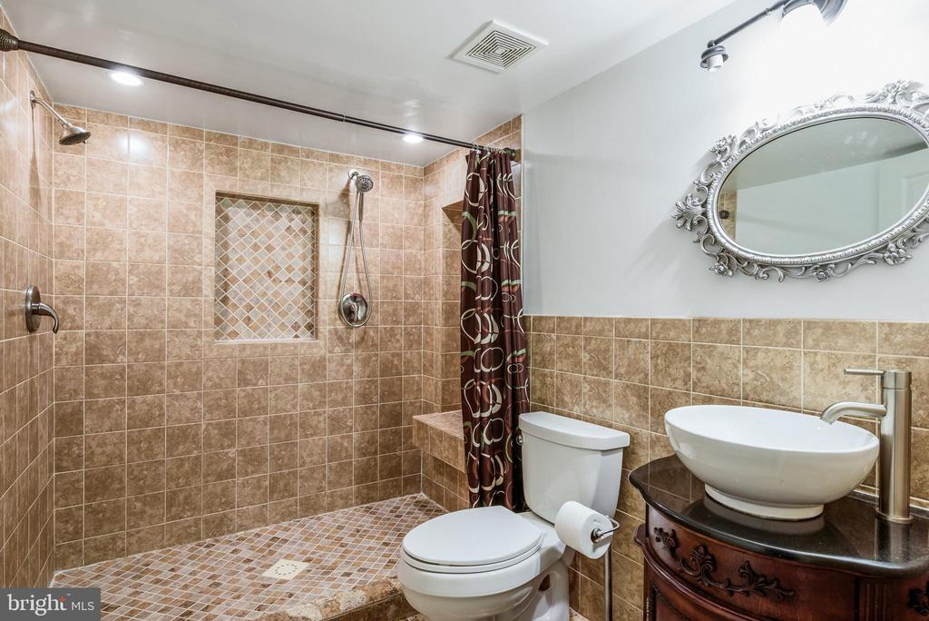full bathroom in basement - 20436 RIVER BANK ST, STERLING