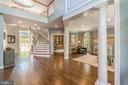 Foyer entry with view of living room and office - 5400 LIGHTNING DR, HAYMARKET