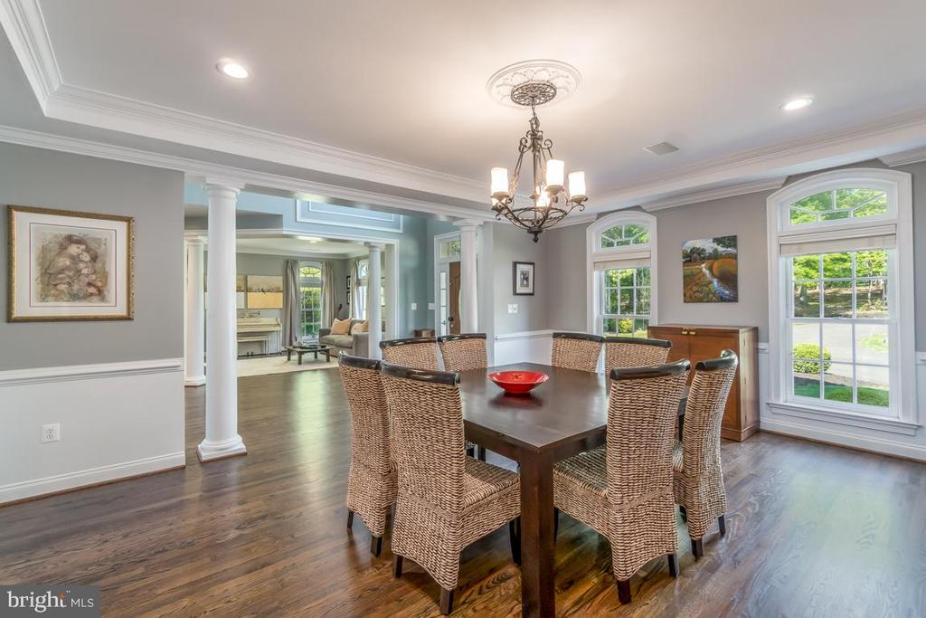 Dining Room with view of foyer - 5400 LIGHTNING DR, HAYMARKET