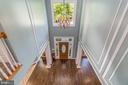 View of foyer from second floor - 5400 LIGHTNING DR, HAYMARKET