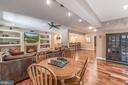 Finished lower level with new hardwood floors - 5400 LIGHTNING DR, HAYMARKET