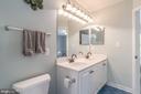 Jack and Jill bathroom - 5400 LIGHTNING DR, HAYMARKET