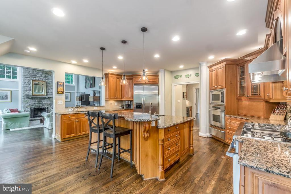 Chef's Kitchen with professional appliances - 5400 LIGHTNING DR, HAYMARKET