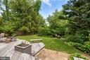 Deck overlooking backyard. - 2401 N VERNON ST, ARLINGTON