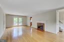 Living room with gas fireplace. - 2401 N VERNON ST, ARLINGTON