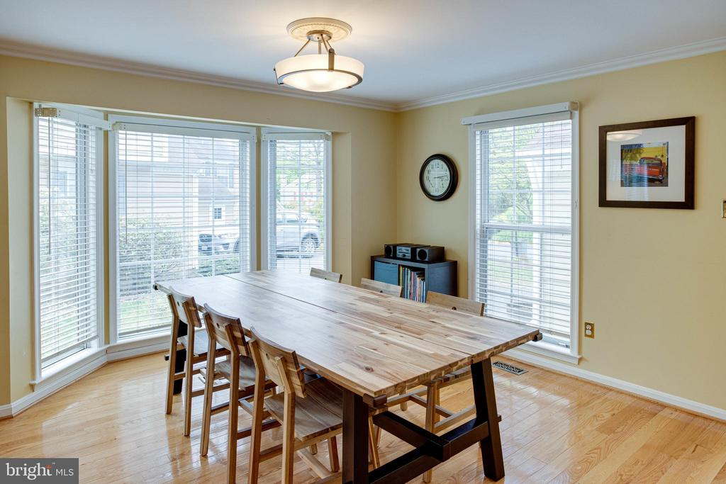 Dining Area with Bay Window and Crown Molding - 1542 DEER POINT WAY, RESTON