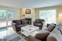 Living Room with Crown Molding - 1542 DEER POINT WAY, RESTON