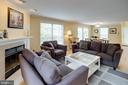 Living Room with Wood Burning Fireplace - 1542 DEER POINT WAY, RESTON