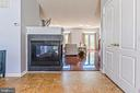 3 sided gas fireplace - 22944 ROSE QUARTZ SQ, BRAMBLETON