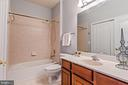 Hall bath with laundry-full size washer and dryer - 22944 ROSE QUARTZ SQ, BRAMBLETON