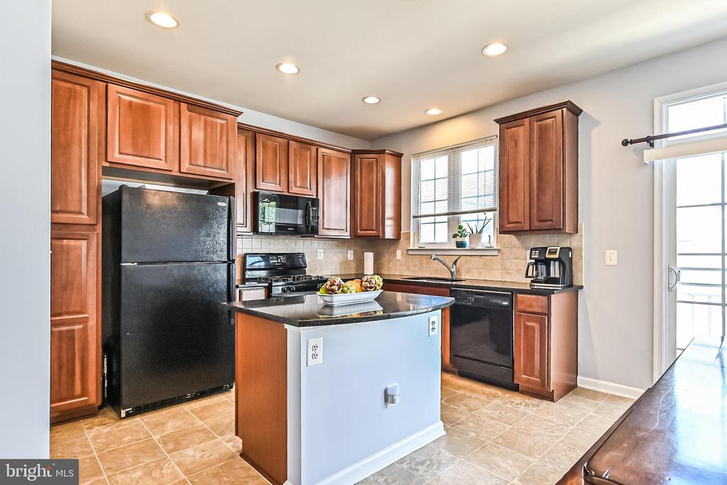 Kitchen with island and walk out to deck - 22944 ROSE QUARTZ SQ, BRAMBLETON