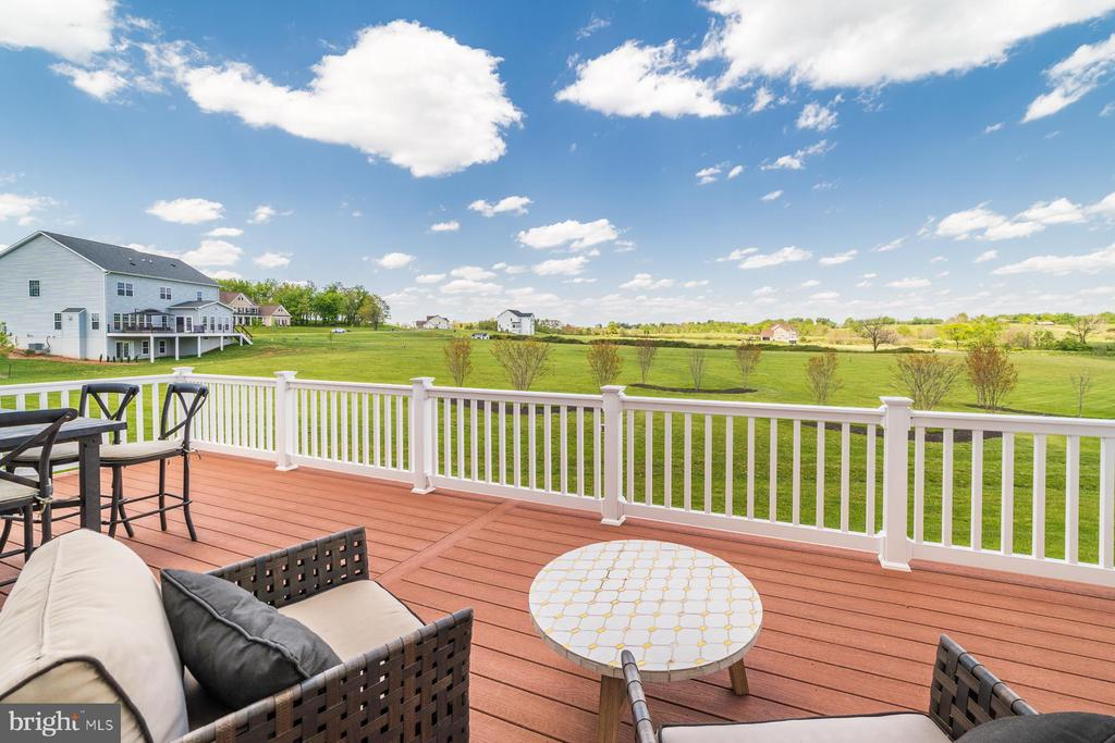 Family room opens to expansive deck - 14732 RAPTOR RIDGE WAY, LEESBURG