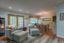 Family room with french doors leading to deck. - 12153 STALLION CT, WOODBRIDGE