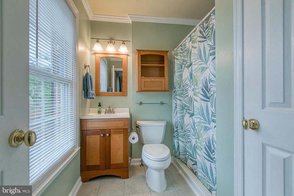 Master bathroom with shower. - 12153 STALLION CT, WOODBRIDGE