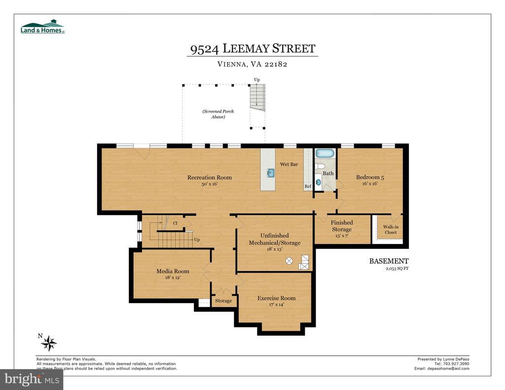 Lower Level Floorpan - 9524 LEEMAY ST, VIENNA