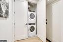 Stacked washer/dryer in unit - 521 N WASHINGTON ST #201, ALEXANDRIA