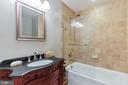 Full (Updated) Bathroom, Near Bedroom #3 & #4 - 7613 DWIGHT DR, BETHESDA