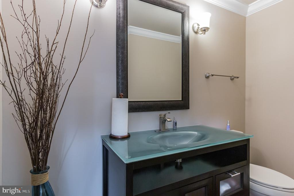 Powder room - 7613 DWIGHT DR, BETHESDA