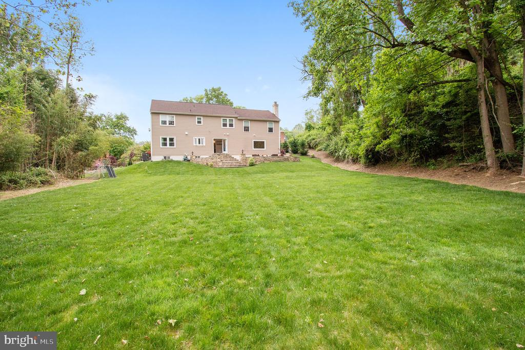 Backyard View...Home sits on 2.4 Acres - 7613 DWIGHT DR, BETHESDA