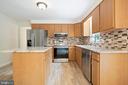 Recent updated Kitchen with newer SS Appliances - 16194 SHEFFIELD DR, DUMFRIES