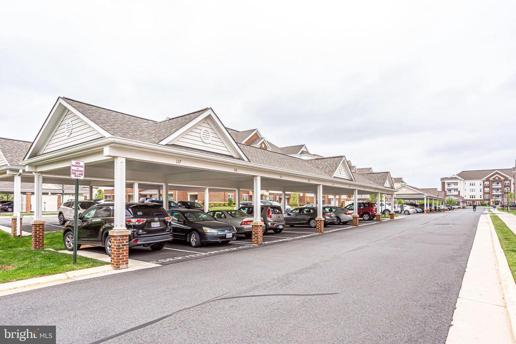 Your Carport is Just Right Outside the Front Door - 20505 LITTLE CREEK TER #203, ASHBURN