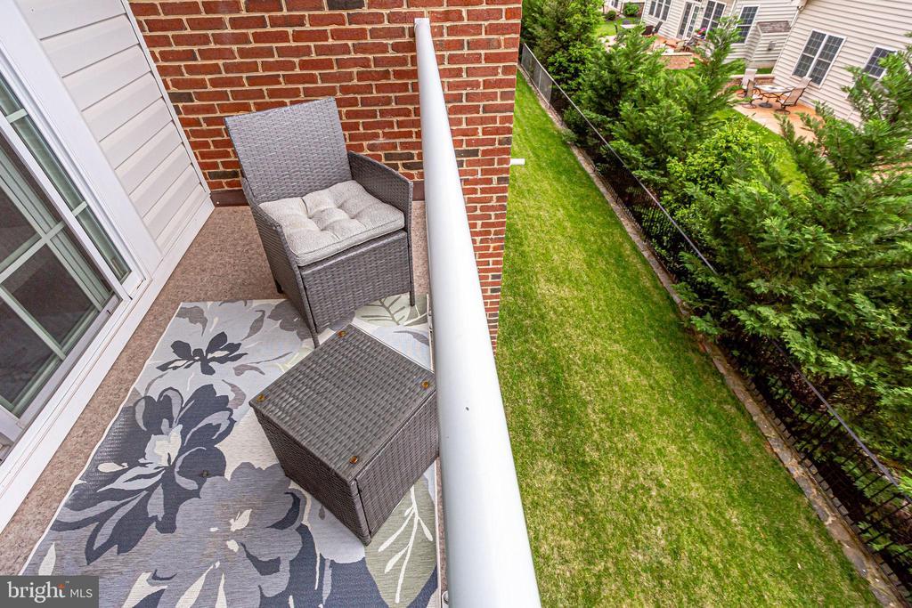 Balcony Overlooking Greenery - 20505 LITTLE CREEK TER #203, ASHBURN